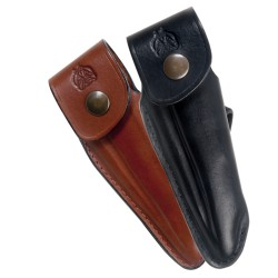Shaped leather sheath for Laguiole