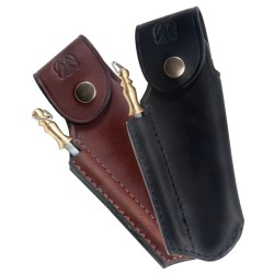 Finest quality leather sheath for Laguiole with sharpener