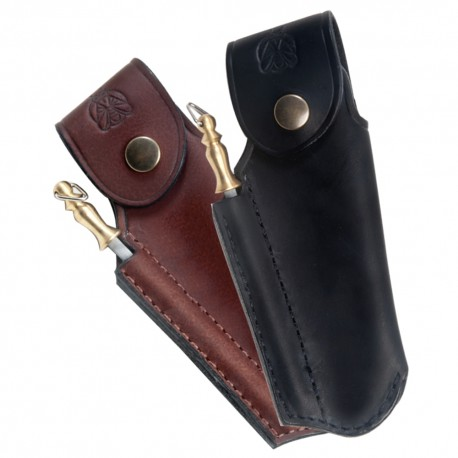Finest quality leather sheath for Laguiole with sharpener - Image 1063