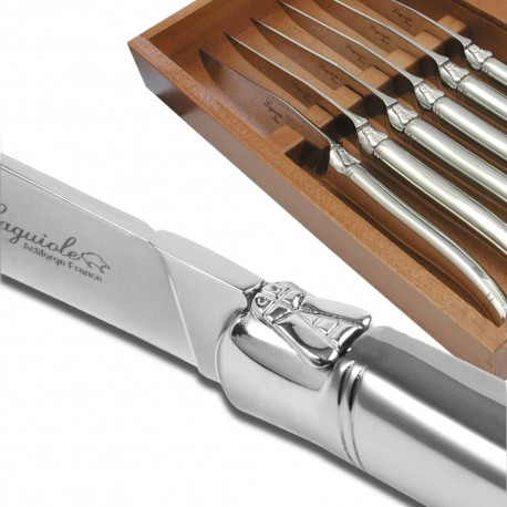 Set of 6 Advantage Laguiole steak knives stainless steel polished finish - Image 1078