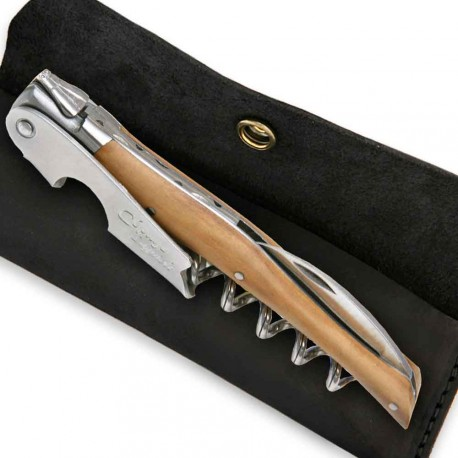 Wine opener Laguiole with olive wood handle - Image 1857