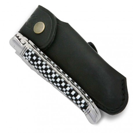 Laguiole knife with checkerboard Cristallium handle - Image 1925