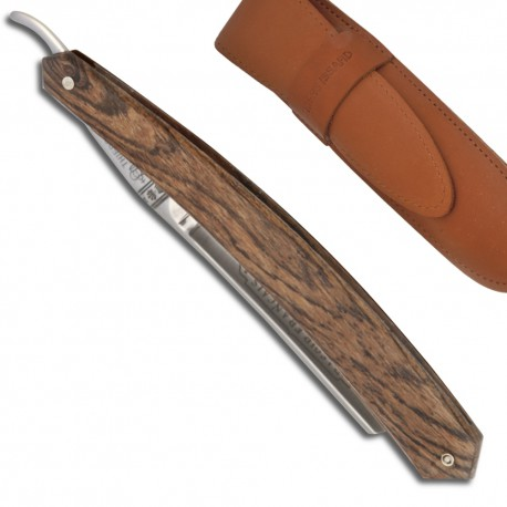 Buffalo razor 5/8 in Bocote Wood - Chiselled decoration triangle on the back of the blade - Image 338