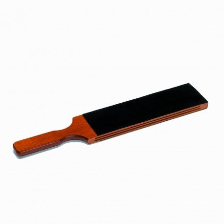 Extra large razor paddle strop in wood and leather - Image 397