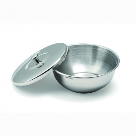 Stainless steel shaving bowl with cover - Image 405