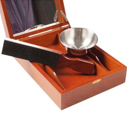 Historic shaving box for straight razors Delivered with mini-trop and shaving bowl