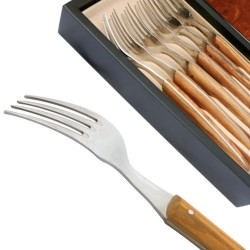 Set 6 Thiers forks - Olive wood handle