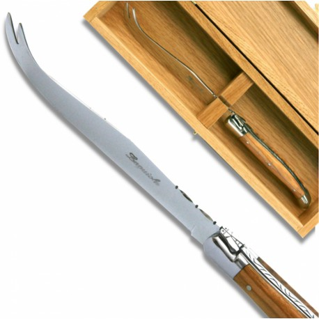 Laguiole Cheese knife Olive wood Handle - Image 632