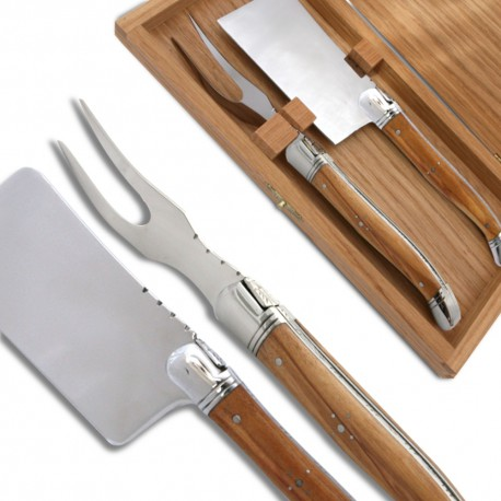 Laguiole Cheese knife set Olive wood Handle - Image 651